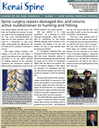 spencer back to life after spine surgery in kenai alaska