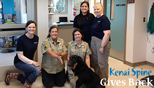 kenai spine gives back to community